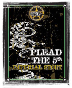 Dark Horse Plead the 5th 2008 beer Label Full Size