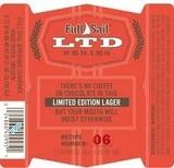 Full Sail LTD 06 Black Bock Lager beer