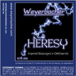 Weyerbacher Old Heathen beer Label Full Size