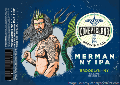 Coney Island Merman IPA beer Label Full Size