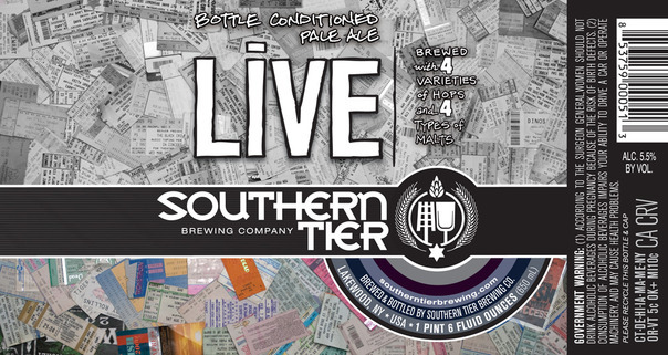 Southern Tier Live beer Label Full Size