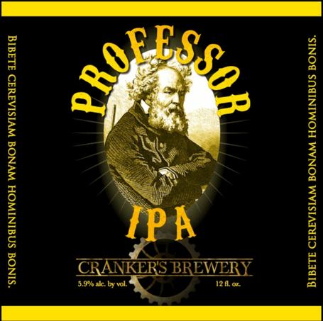 Cranker's Professor IPA beer Label Full Size