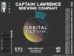 Captain Lawrence Orbital Tilt Citra beer Label Full Size