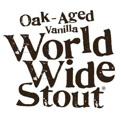 Dogfish head Oak Aged Vanilla World Wide Stout beer Label Full Size