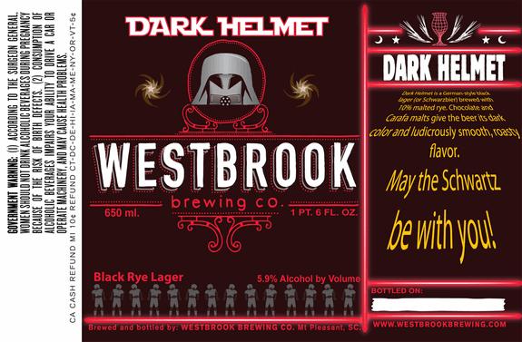 Westbrook Dark Helmet Beer