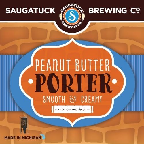Saugatuck Peanut Butter Porter beer Label Full Size