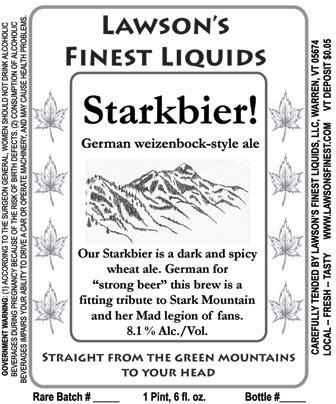 Lawson's Starkbier! Beer