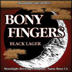 Moonlight Bony Fingers beer Label Full Size