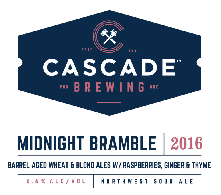 Cascade Midnight Bramble beer Label Full Size