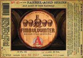 Avery Barrel-Aged Series: Fimbulvvinter Quintupel Rum Barrel Aged beer Label Full Size