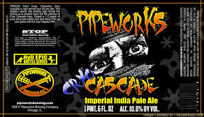 Photo of Pipeworks Cryo Cascade beer Label
