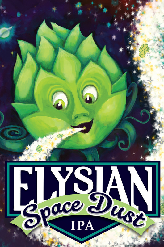 Elysian Space Dust beer Label Full Size
