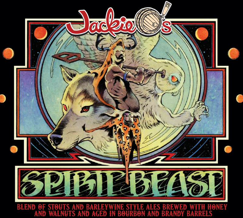Jackie O's Spirit Beast 2018 beer Label Full Size