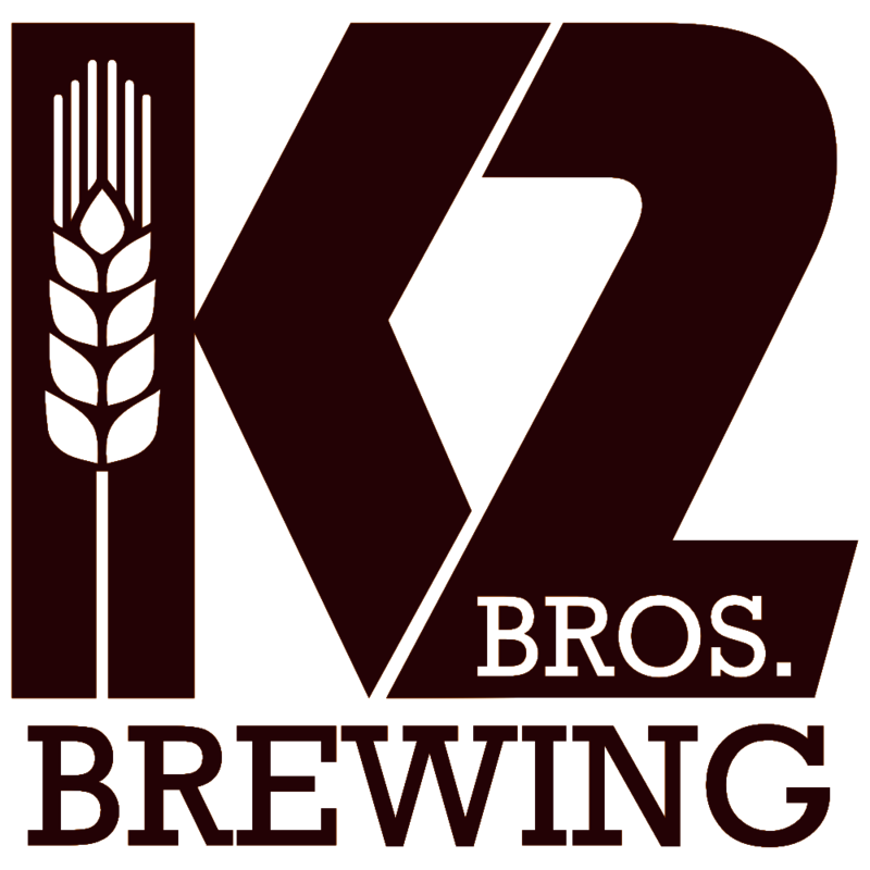 K2 Brothers Brewing American Stout on Nitro beer Label Full Size