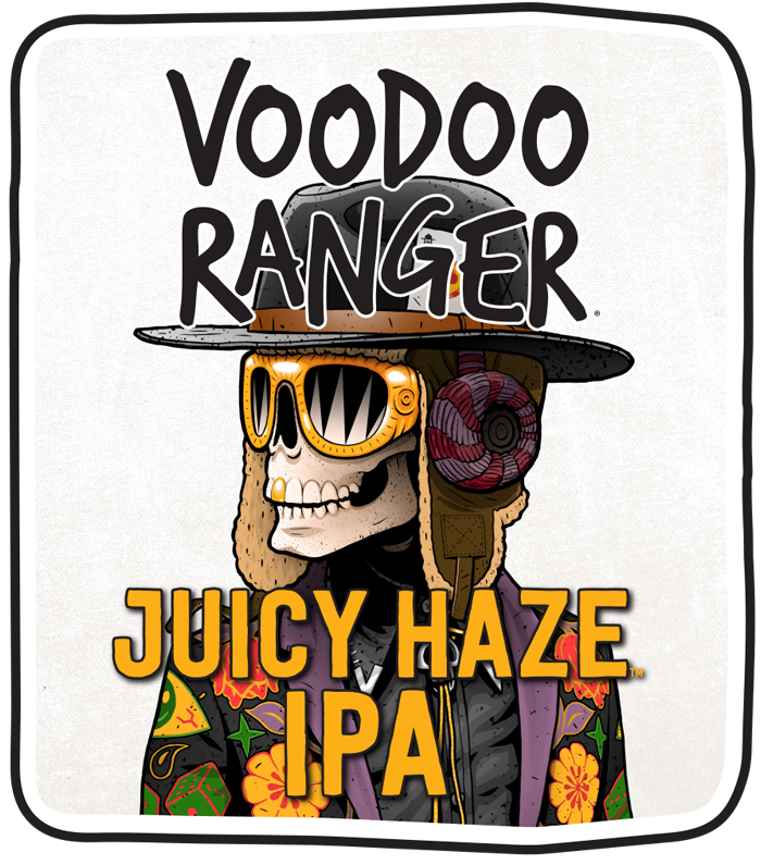 New Belgium Voodoo Ranger Juicy Haze IPA beer Label Full Size