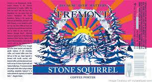 Fremont Stone Squirrel Porter beer Label Full Size