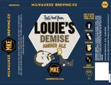Milwaukee Louie's Demise Amber beer