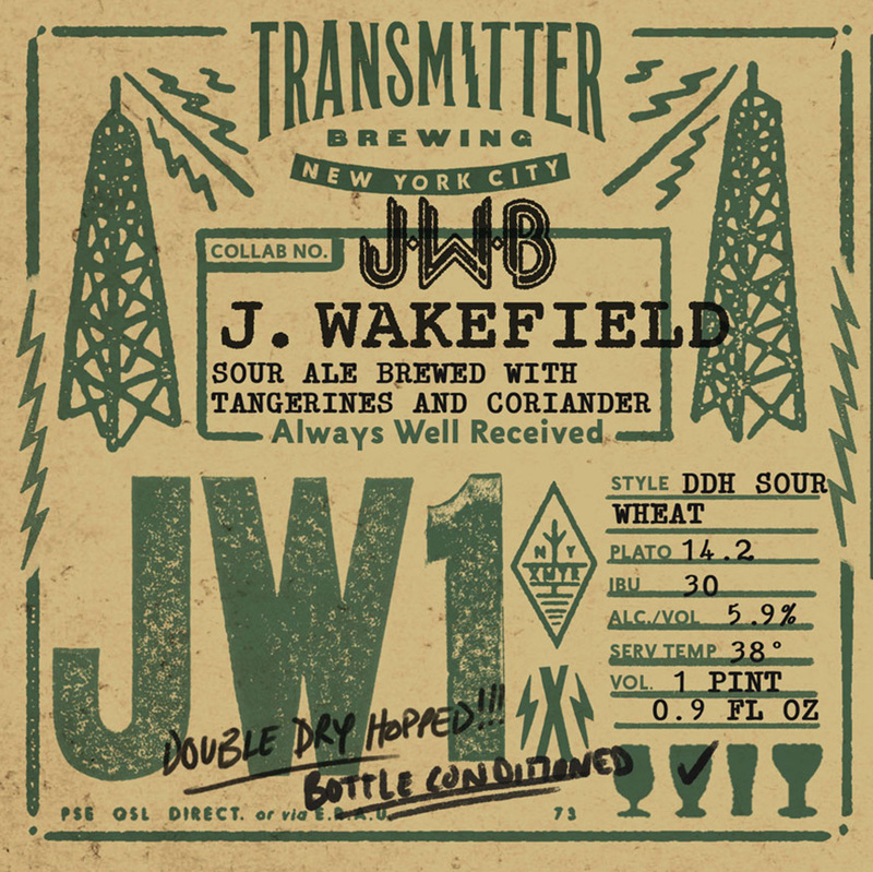 Transmitter/J. Wakefield JW1 DDH Sour Wit beer Label Full Size