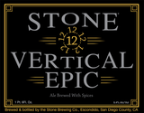 Stone Vertical Epic Ale 121212 beer