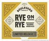 Boulevard Rye-On-Rye Whiskey Barrel Aged Beer