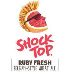 Shock Top Ruby Fresh Grapefruit beer Label Full Size
