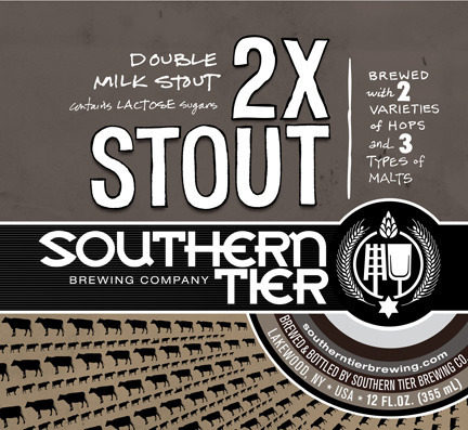 Southern Tier 2X Stout beer Label Full Size