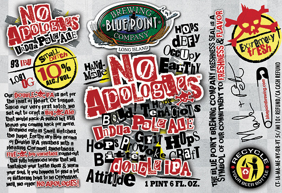 Blue Point No Apologies beer Label Full Size