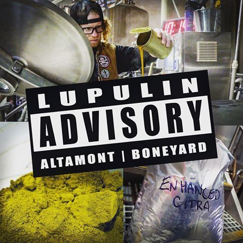 Altamont Lupulin Advisory beer Label Full Size