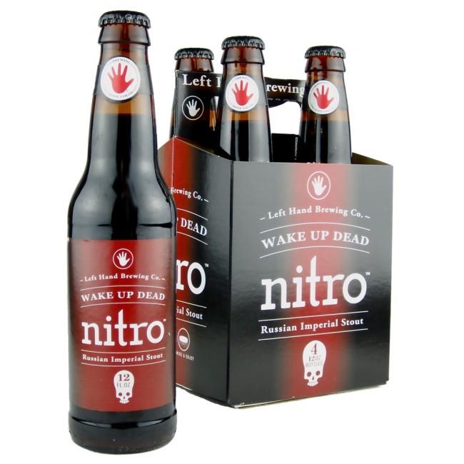Left Hand Wake Up Dead Nitro beer Label Full Size