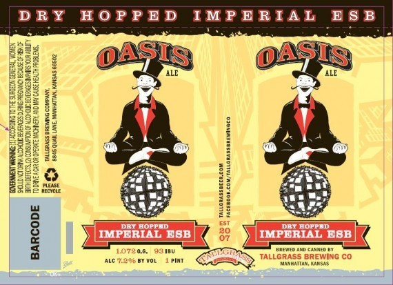 Tall Grass Oasis Imperial ESB beer Label Full Size
