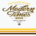 Modern Times Fortunate Islands beer Label Full Size