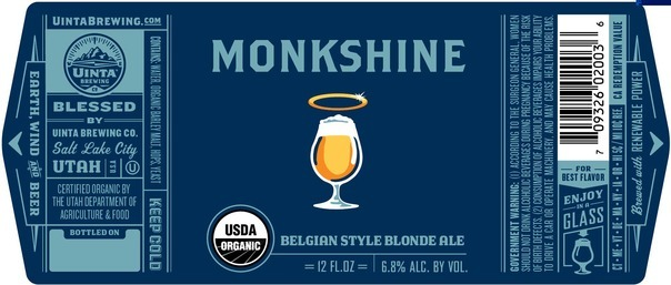 Uinta Monkshine beer Label Full Size