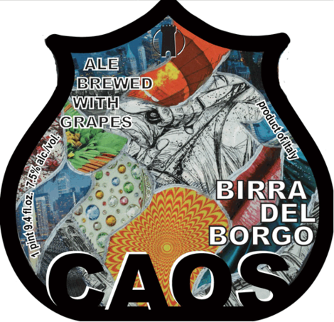 Birra del Borgo Caos beer Label Full Size