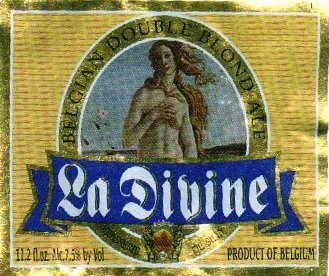 La Divine Double Blond beer Label Full Size
