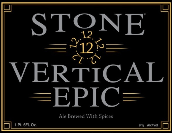Stone Vertical Epic Ale beer Label Full Size