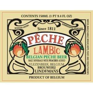 Lindemans Pêche / Pêcheresse beer Label Full Size