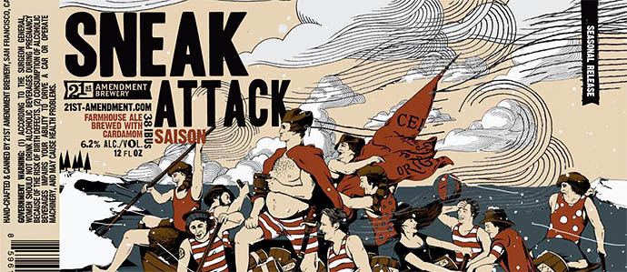 21st Amendment Sneak Attack Beer