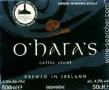 Carlow O'Haras Celtic Stout beer