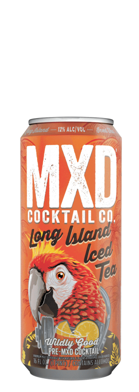 MXD Cocktail Co. Long Island Iced Tea beer Label Full Size