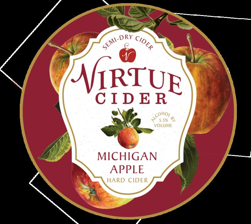 Virtue Cider Michigan Apple beer Label Full Size