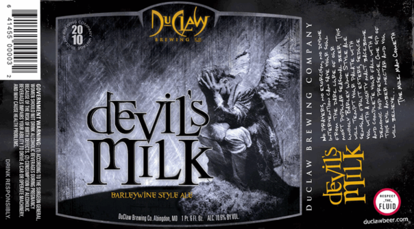 DuClaw Devil's Milk beer Label Full Size