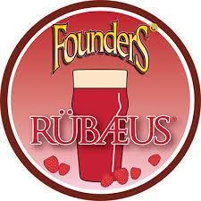 Founders Rubaeus Raspberry beer Label Full Size