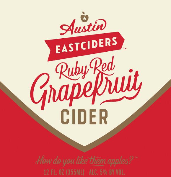 Austin Eastciders Ruby Red Grapefruit Cider beer Label Full Size
