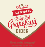 Austin Eastciders Ruby Red Grapefruit Cider beer
