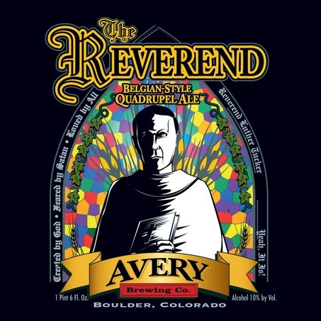 Avery The Reverend beer Label Full Size