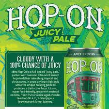 Abita Hop-On Juicy Pale beer Label Full Size