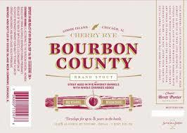 Goose Island Bourbon County Cherry Rye beer Label Full Size