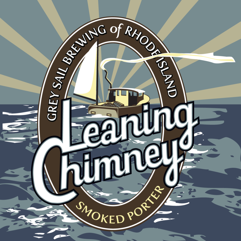 Grey Sail Leaning Chimney Smoked Porter beer Label Full Size