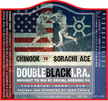 Revival Double Black IPA beer Label Full Size