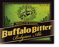 Buffalo Bitter beer Label Full Size
